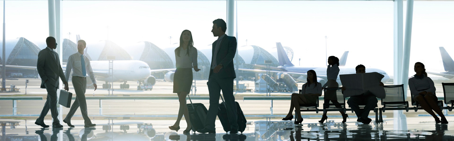 Airport reception