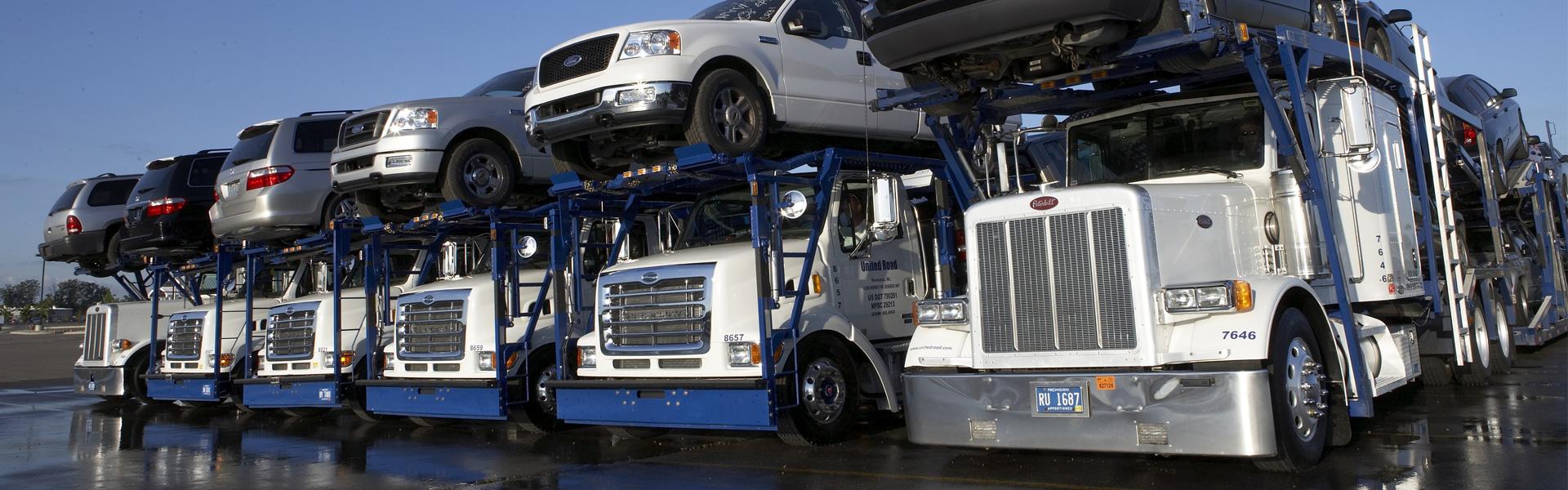 Transport der Fahrzeuge